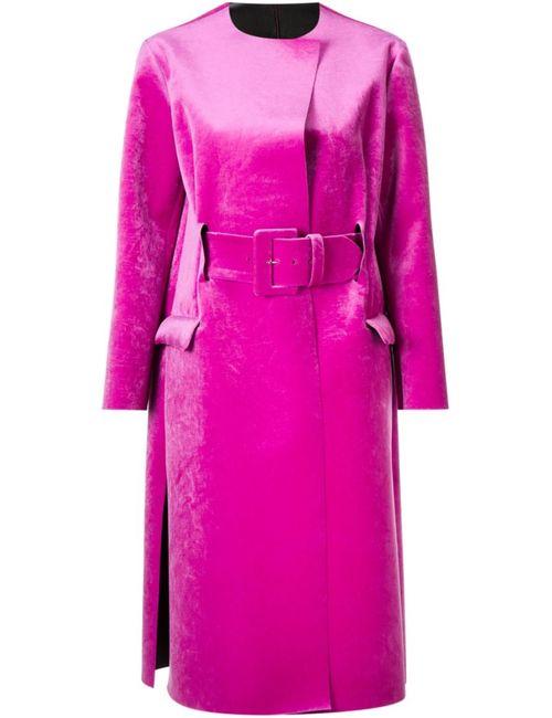 Toga | Женское Розовое Пальто С Поясом