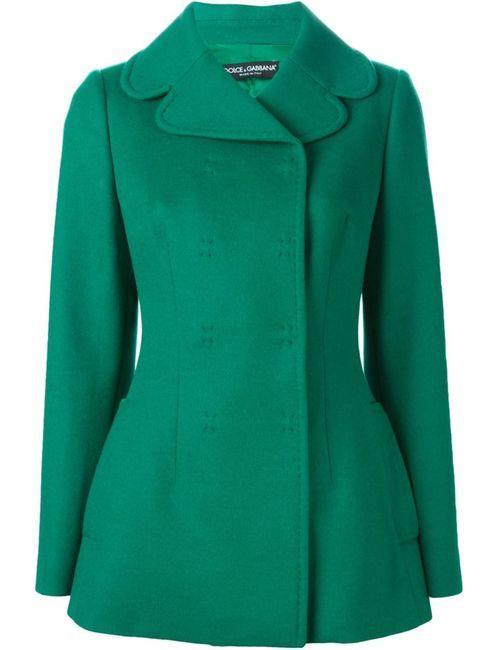 Dolce & Gabbana | Женское Зелёное Двубортное Полупальто