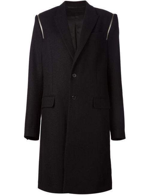 Givenchy | Мужское Чёрный Zip Detail Overcoat