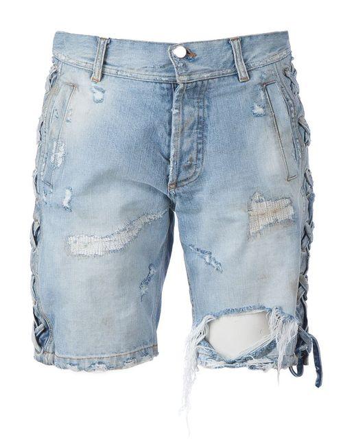Faith Connexion | Женское Синий Distressed Denim Shorts