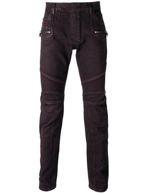 Balmain | Мужское Красный Biker Jeans