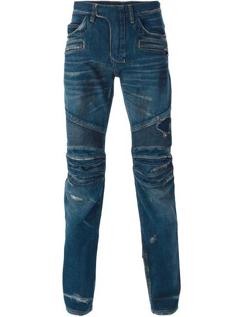 Balmain   Мужское Синий Skinny Biker Jeans