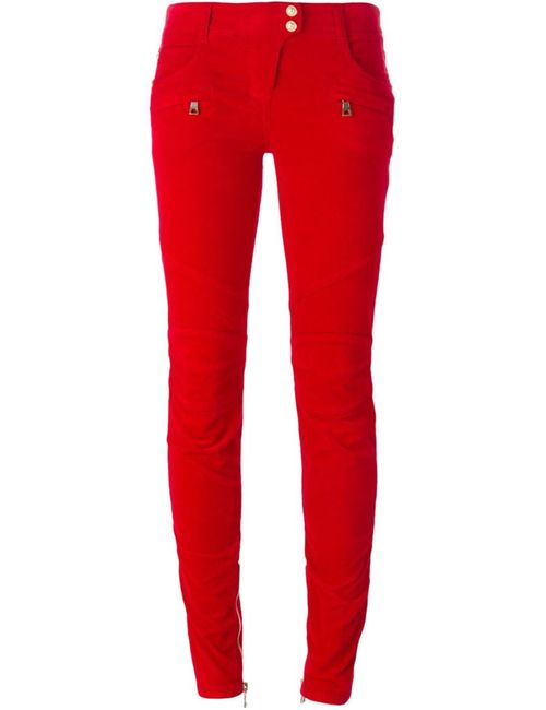 Balmain | Женское Красный Skinny Trousers
