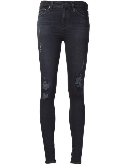 AG JEANS   Синий Farrah Skinny Jeans