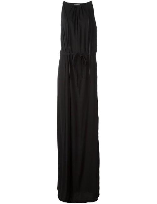 Ann Demeulemeester | Женское Черный Длинное Платье С Поясом