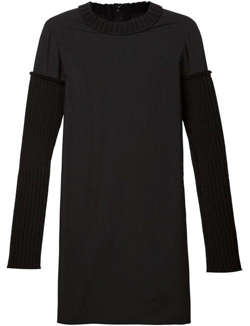 Vera Wang | Женское Черный Платье Со Шнуровкой Сзади