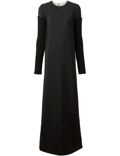 Vera Wang | Женское Чёрный Long Corset Back Dress
