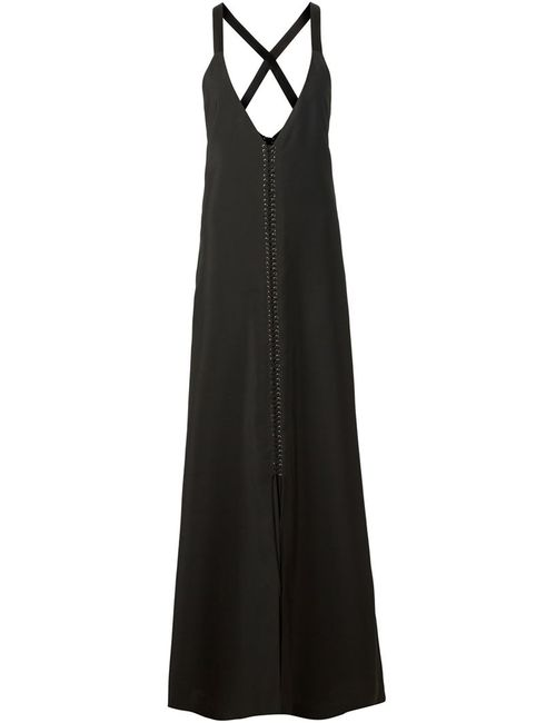 Vera Wang | Женское Черный Plunging V-Neck Evening Dress