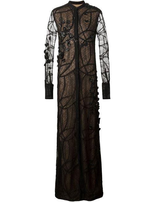 Vera Wang | Женское Чёрный Sheer Lace Gown