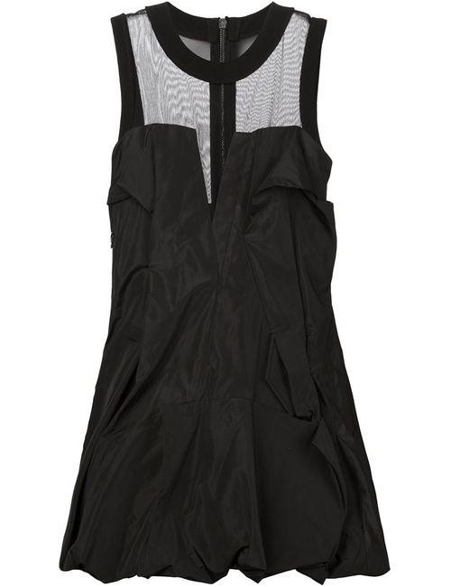 Vera Wang | Женское Чёрный Tulle Yoke Draped Dress