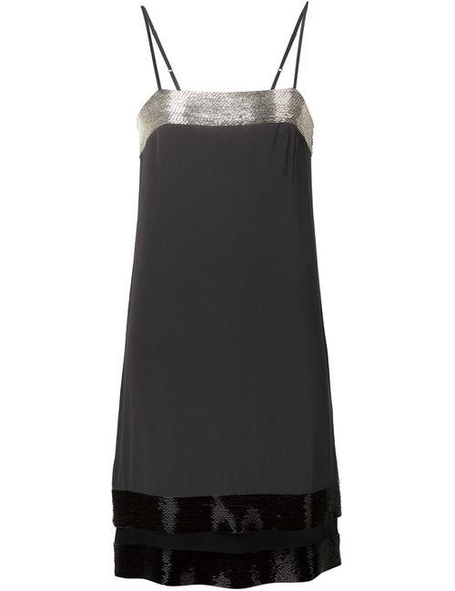Vera Wang   Женское Чёрный Beaded Camisole Dress