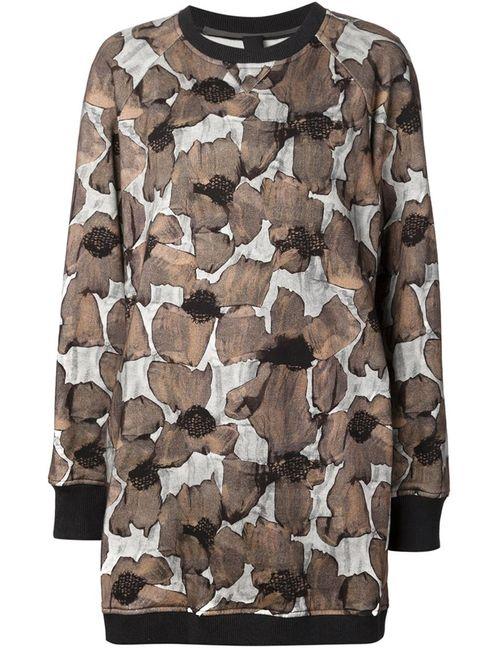 Vera Wang | Женское Чёрный Poppy Print Sweatshirt Dress