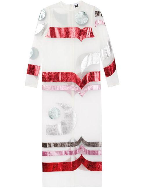 SADIE WILLIAMS | Женское Многоцветное Длинное Прозрачное Платье С Аппликацией