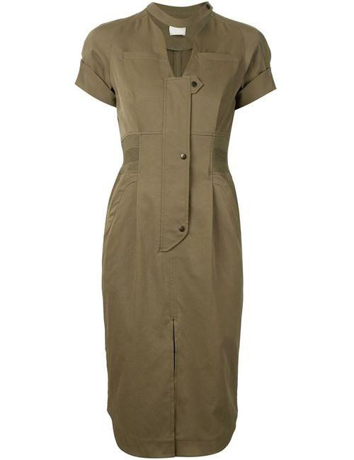 MAME | Женское Зелёное Облегающее Платье-Рубашка