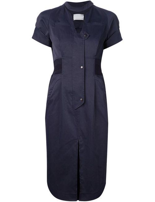 MAME | Женское Синее Облегающее Платье-Рубашка