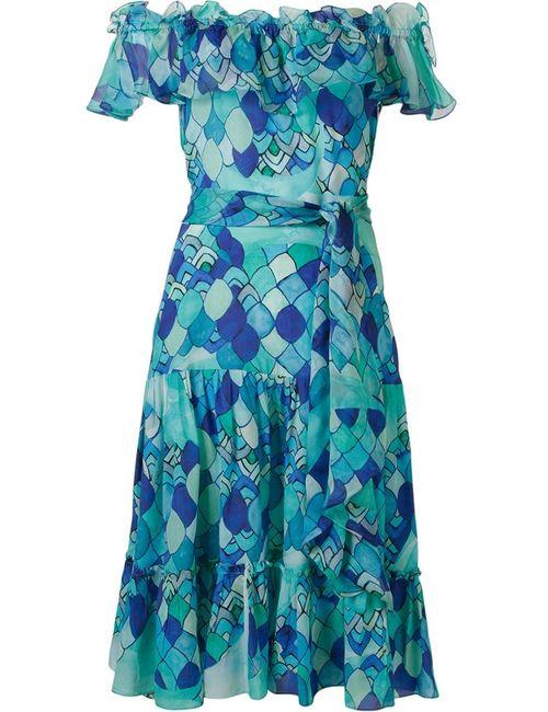 Isolda | Женское Синий Ondas Midi Dress