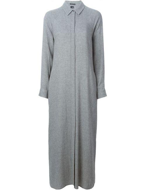Theory | Женское Серое Длинное Платье-Рубашка