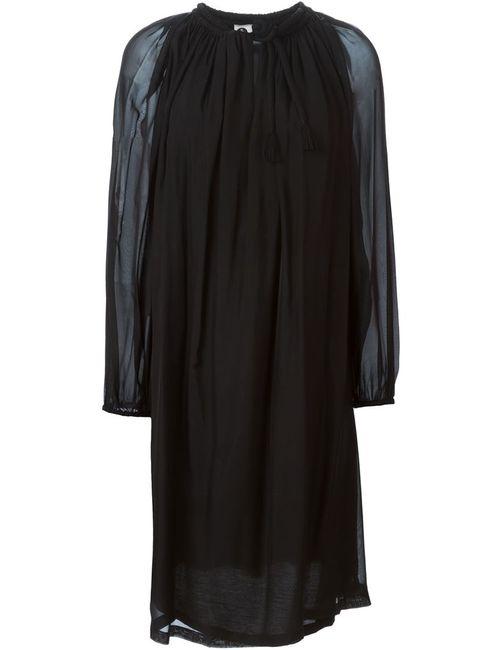 Lanvin | Женское Черный Платье С Прозрачными Рукавами