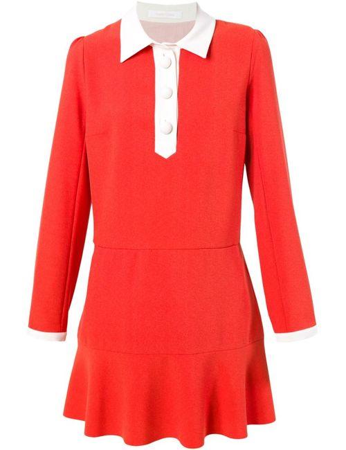 See By Chloe | Женское Красное Платье-Рубашка С Расклешенным Подолом