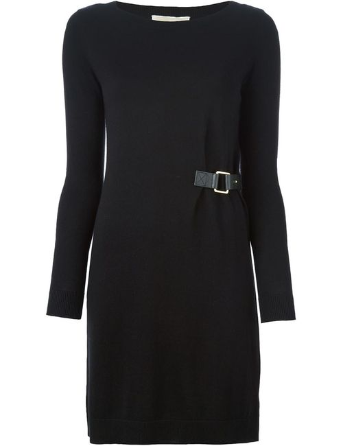 Michael Michael Kors | Женское Чёрное Платье С Запахом С Пряжкой