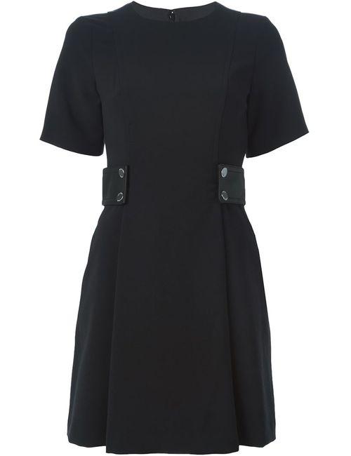Michael Michael Kors | Женское Черный Платье С Круглым Вырезом И Поясом