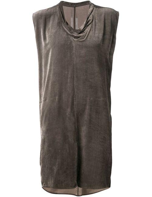 Rick Owens | Женское Серое Платье С Воротником-Хомутом