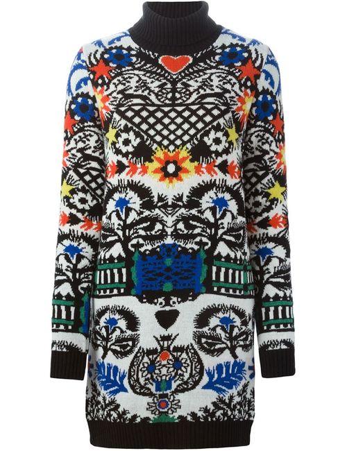 MSGM   Женское Многоцветный Intarsia Knit Dress