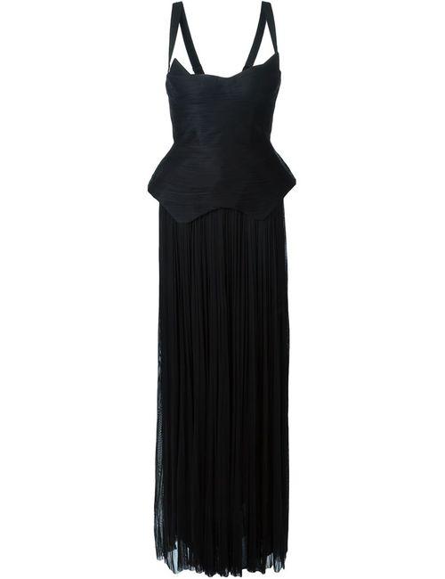 Maria Lucia Hohan | Женское Чёрное Вечернее Платье Taniah