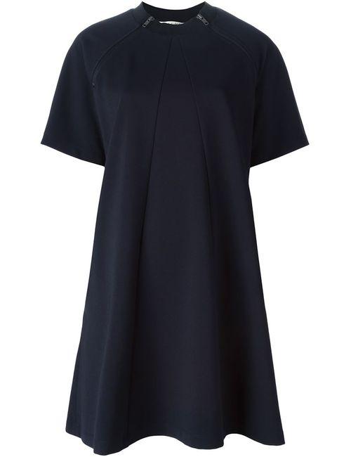 Hache | Женское Синее Платье-Футболка С Короткими Рукавами