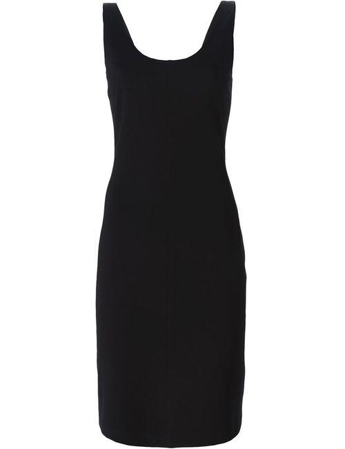 Hache | Женское Чёрное Облегающее Платье