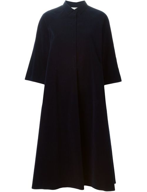Forte Forte | Женское Синее Вельветовое Платье-Рубашка
