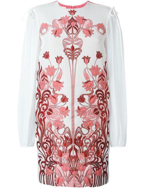 GIAMBA | Женское Nude & Neutrals Жаккардовое Платье С Цветочным Узором