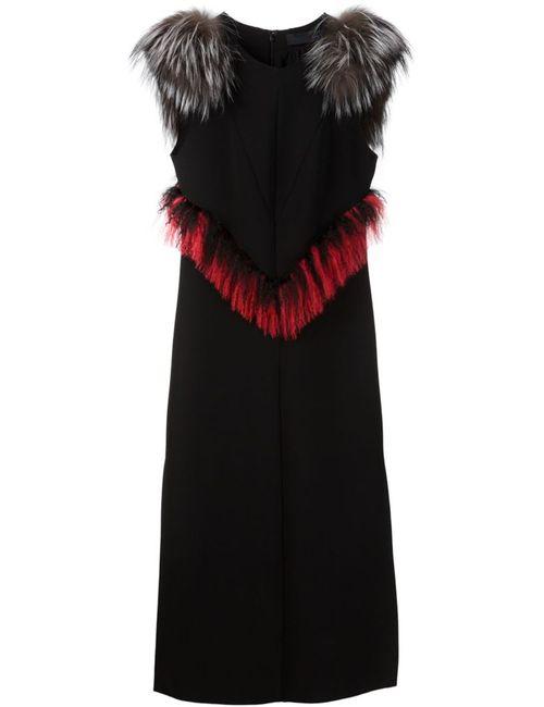 Proenza Schouler   Женское Чёрный Fur Trim Shift Dress
