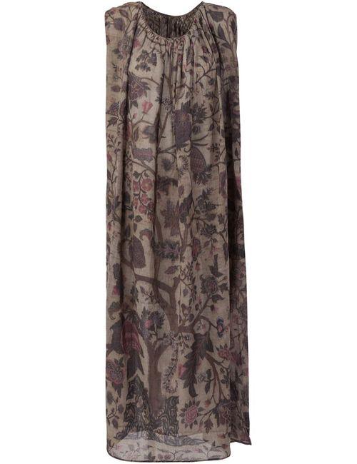 UMA WANG | Женское Зелёный Foliage Print Shift Dress