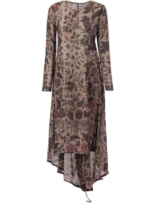 UMA WANG | Женское Зелёный Foliage Print Godet Dress
