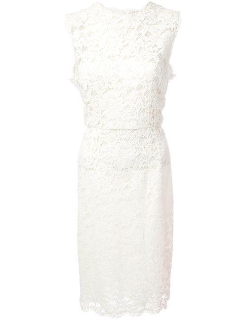 Valentino | Женское Белое Кружевное Платье