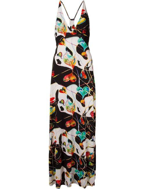 AMIR SLAMA | Женское Черный Printed Long Dress