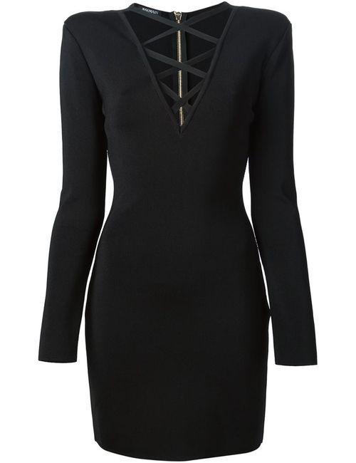 Balmain | Женское Чёрный Criss Cross Fitted Dress