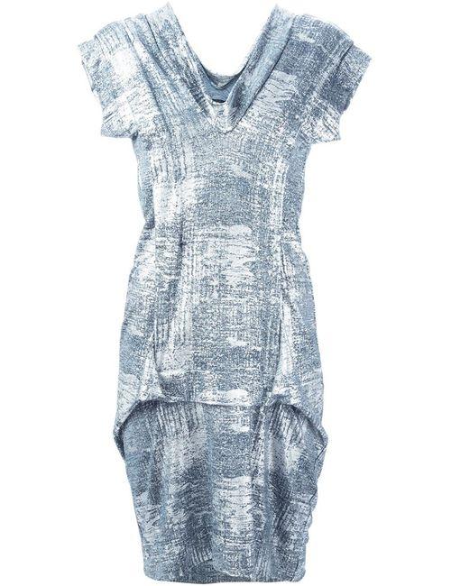 Vivienne Westwood | Женское Серебристое Комбинированное Платье С V-Образным Вырезом