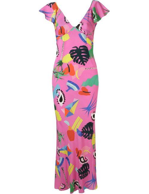 Isolda | Женское Розовое Длинное Платье Niemeyer