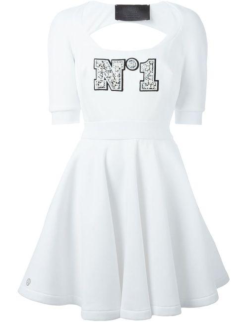 Philipp Plein | Женское Белое Мини-Платье Crystal