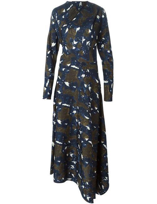 Marni | Женское Зелёное Драпированное Платье Из Шелка Туеса