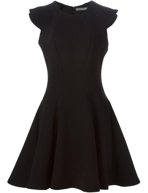 Alexander McQueen | Женское Чёрное Короткое Расклешенное Платье