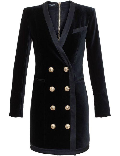 Balmain | Женское Чёрный Buttoned Jacket Dress