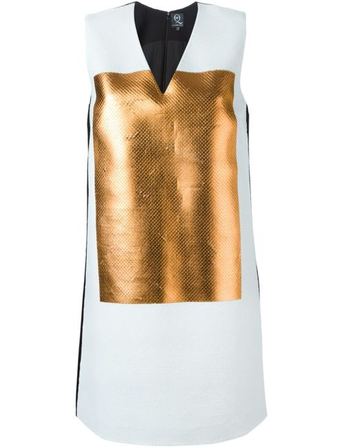 Mcq Alexander Mcqueen | Женское Белое Платье-Шифт С Панелью Металлик