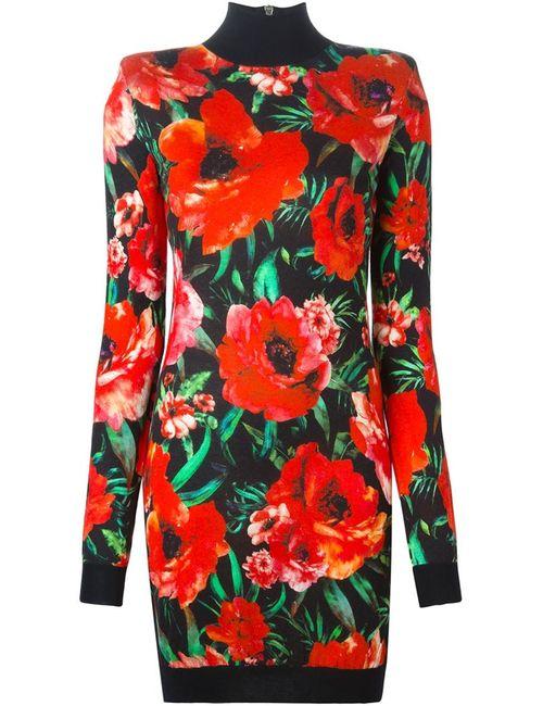 Balmain | Женское Многоцветное Платье С Цветочным Принтом