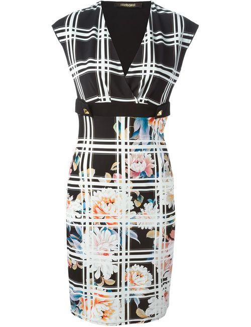 Roberto Cavalli | Женское Чёрный Checked Fitted Dress