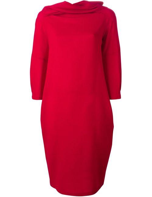 Sybilla | Женское Красное Драпированное Платье
