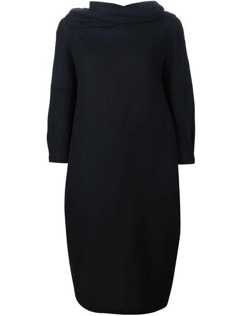 Sybilla | Женское Черный Драпированное Платье