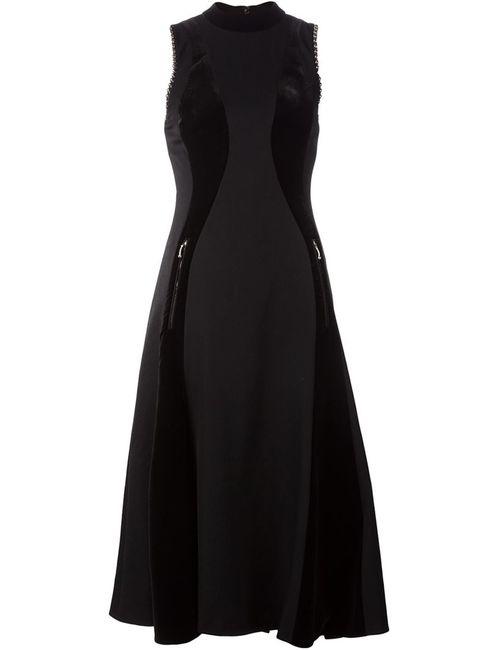 Alexander Wang   Женское Черный Расклешенное Платье С Панельным Дизайном